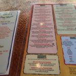 carte menu oscar's café