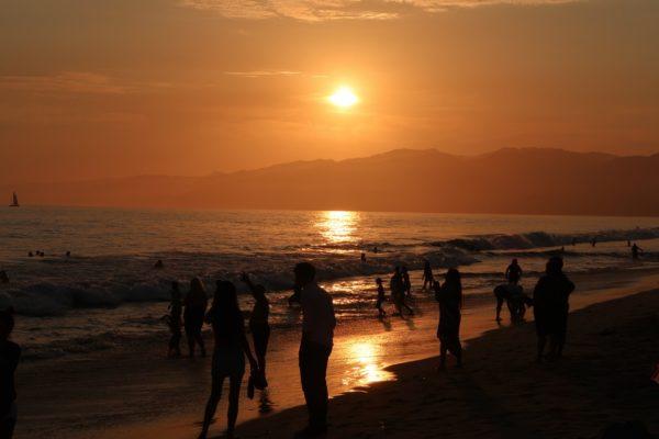 coucher de soleil santa monica