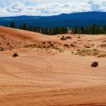 dunes avec véhicule tout terrain