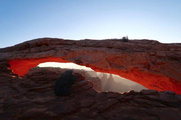 lever de soleil sur Mesa Arch