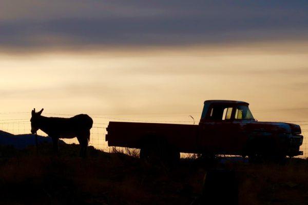 lever de soleil Route 66
