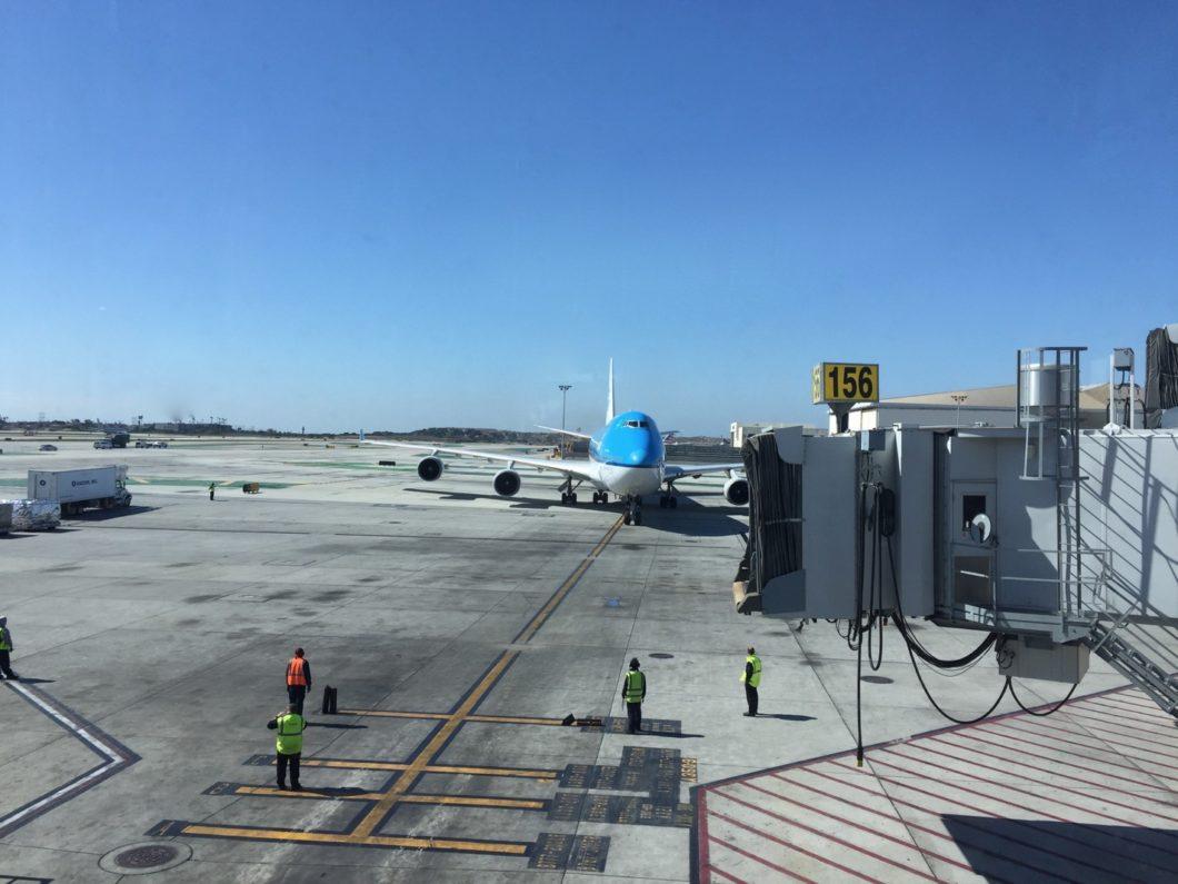 arrivée à l'aéroport