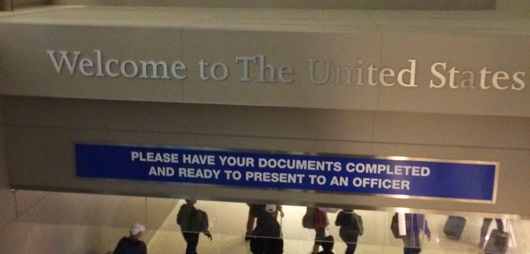 arrivée aux Etats-Unis