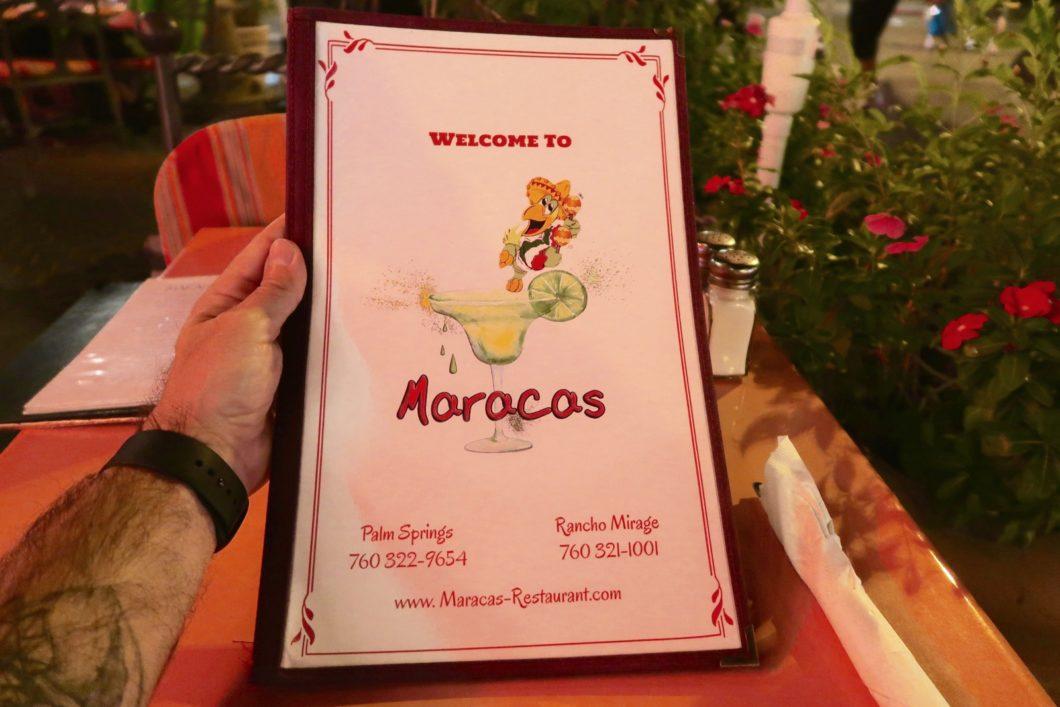 menu Maracas