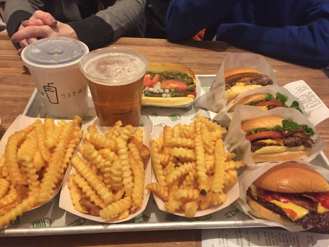 Burger, hot dog Shake Shack