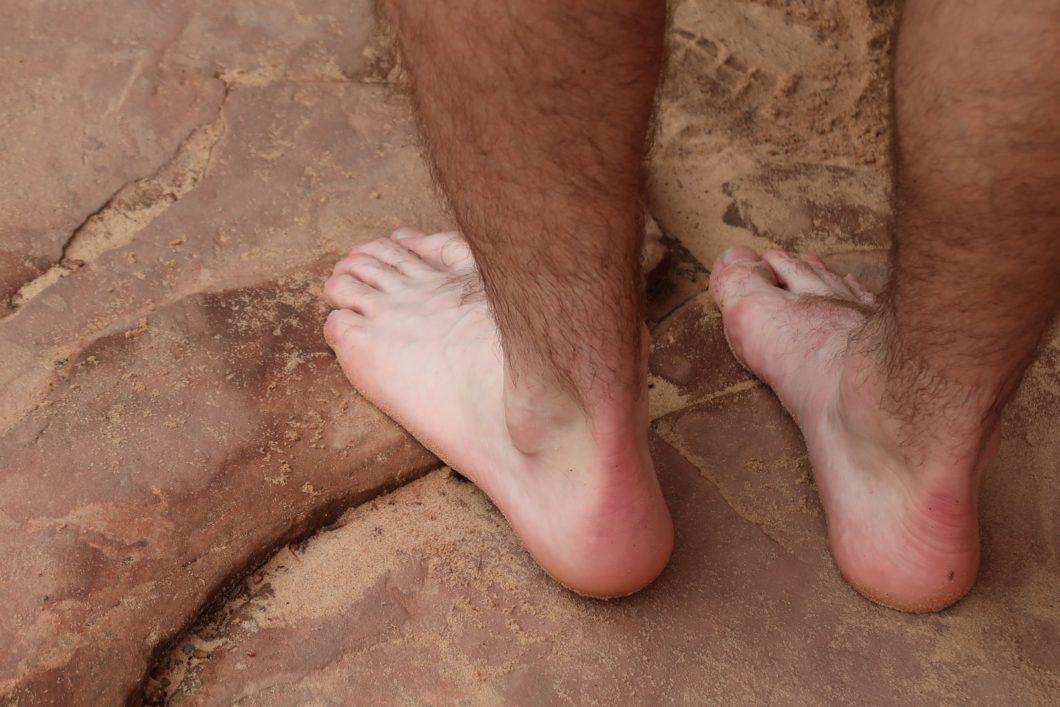 randonner pieds nus