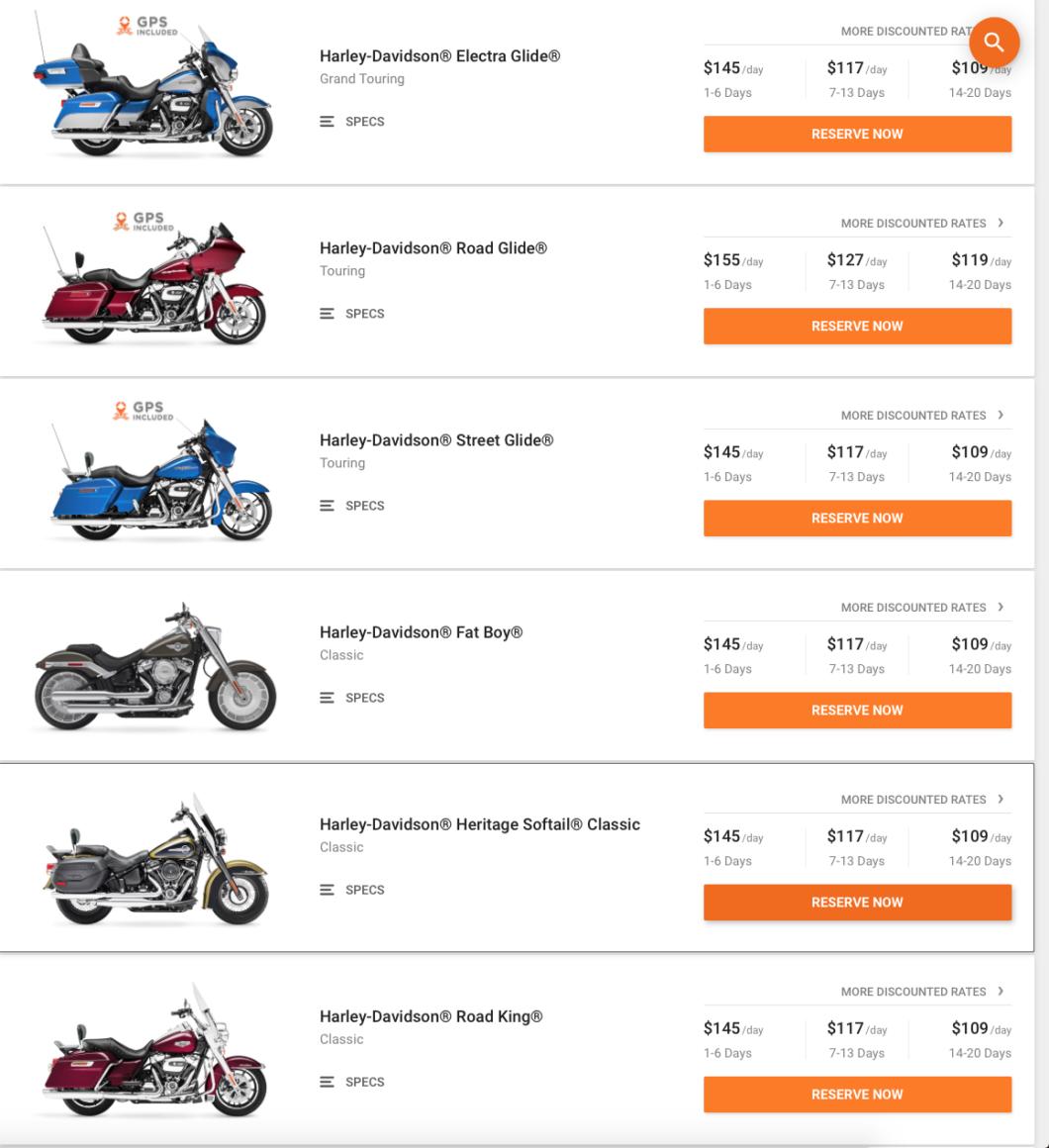 gamme Harley