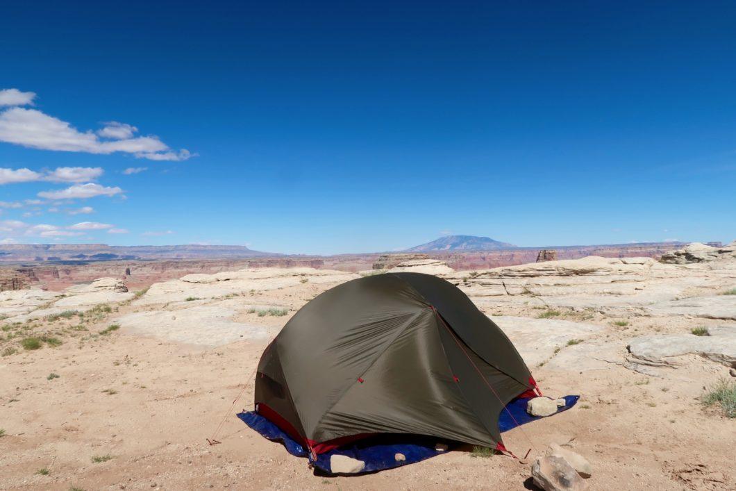 camper dans l'Ouest
