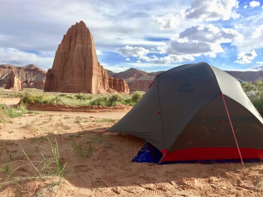 camper dans l'Ouest américain