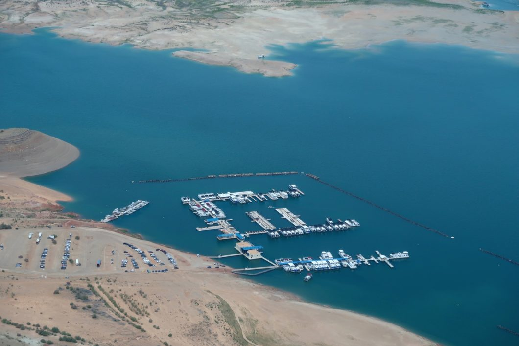 survol du Lake Powell Marina Wahweap