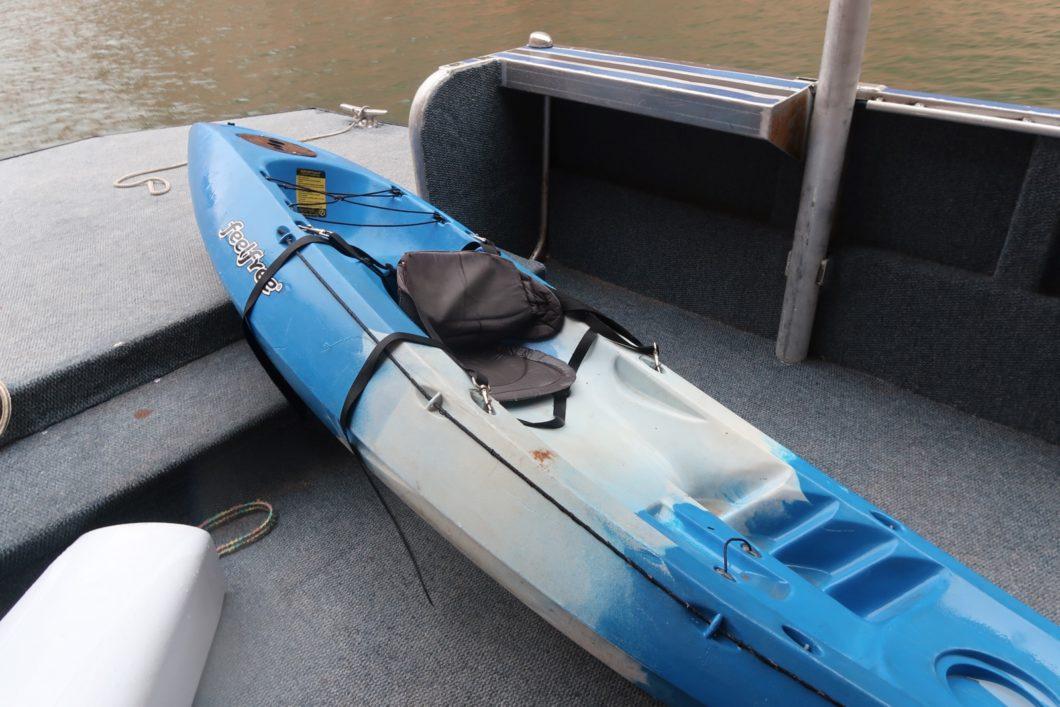 évacuation kayak