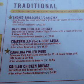 menu virgil's