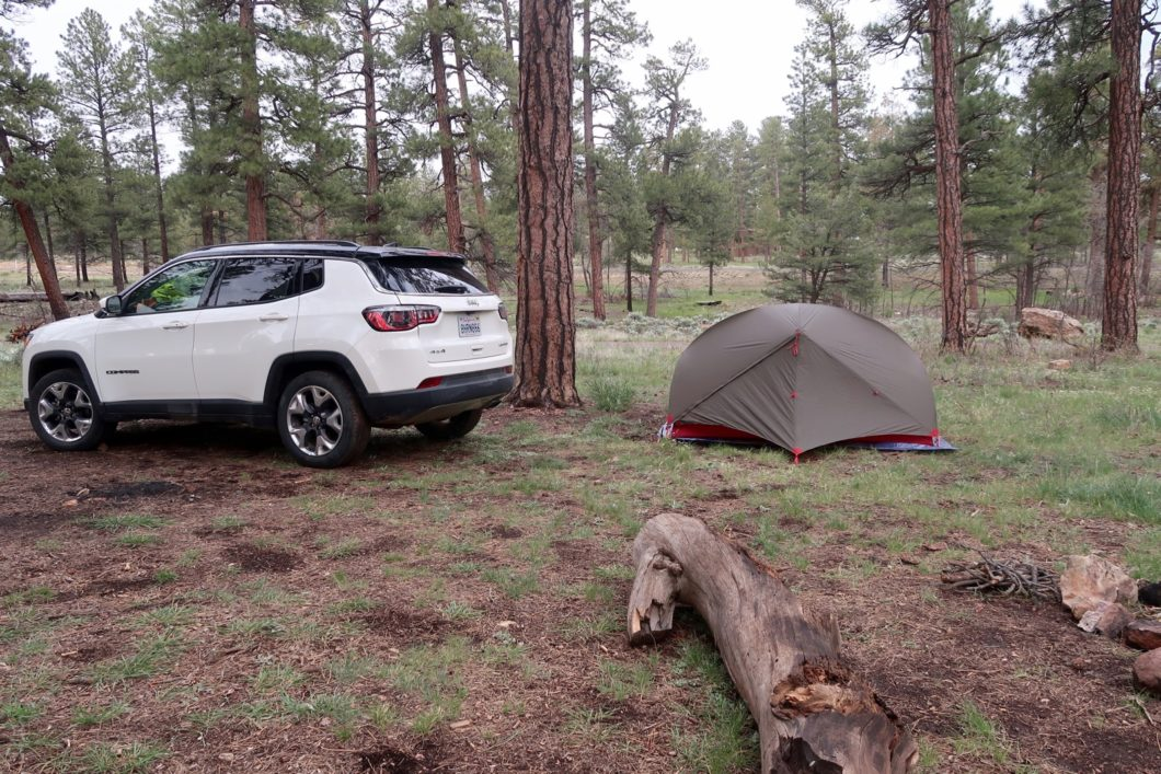 camping sauvage au Grand Canyon