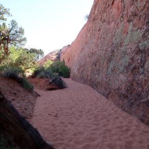 accès slot canyons