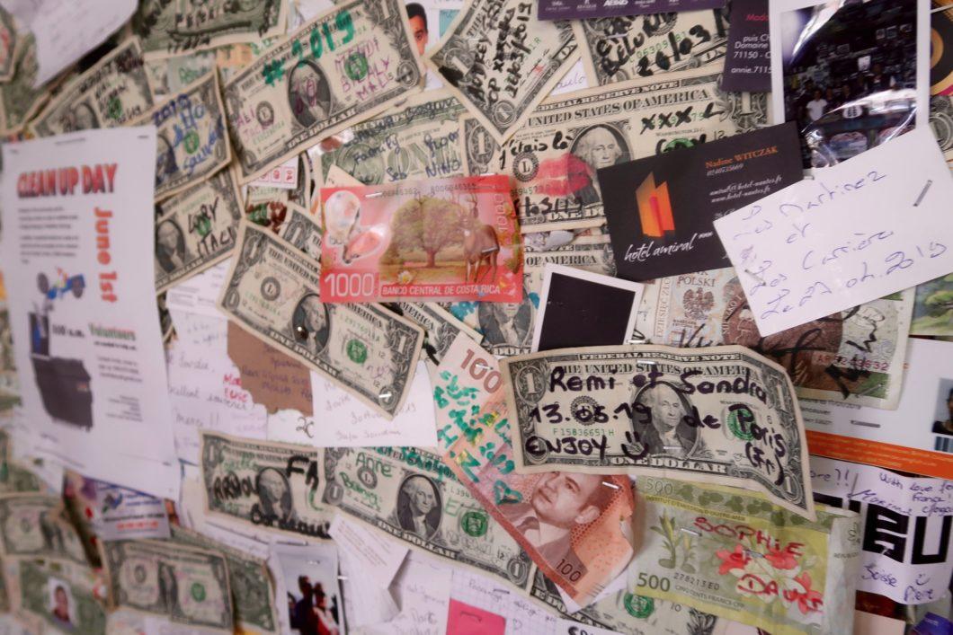 coin billets et cartes de visite
