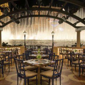 restaurant vue fontaines Bellagio