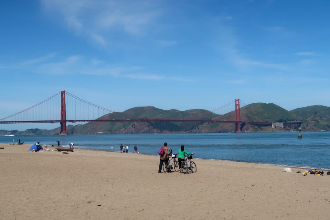 Golden Gate Bridge depuis Crissy Field