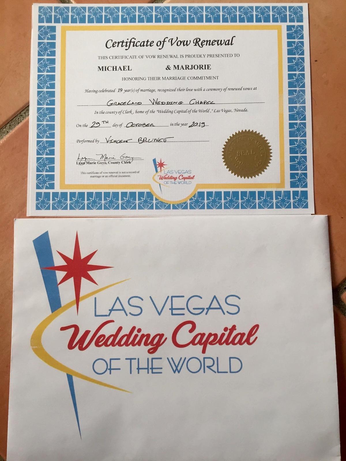 certificat renouvellement de voeux bureau des mariages