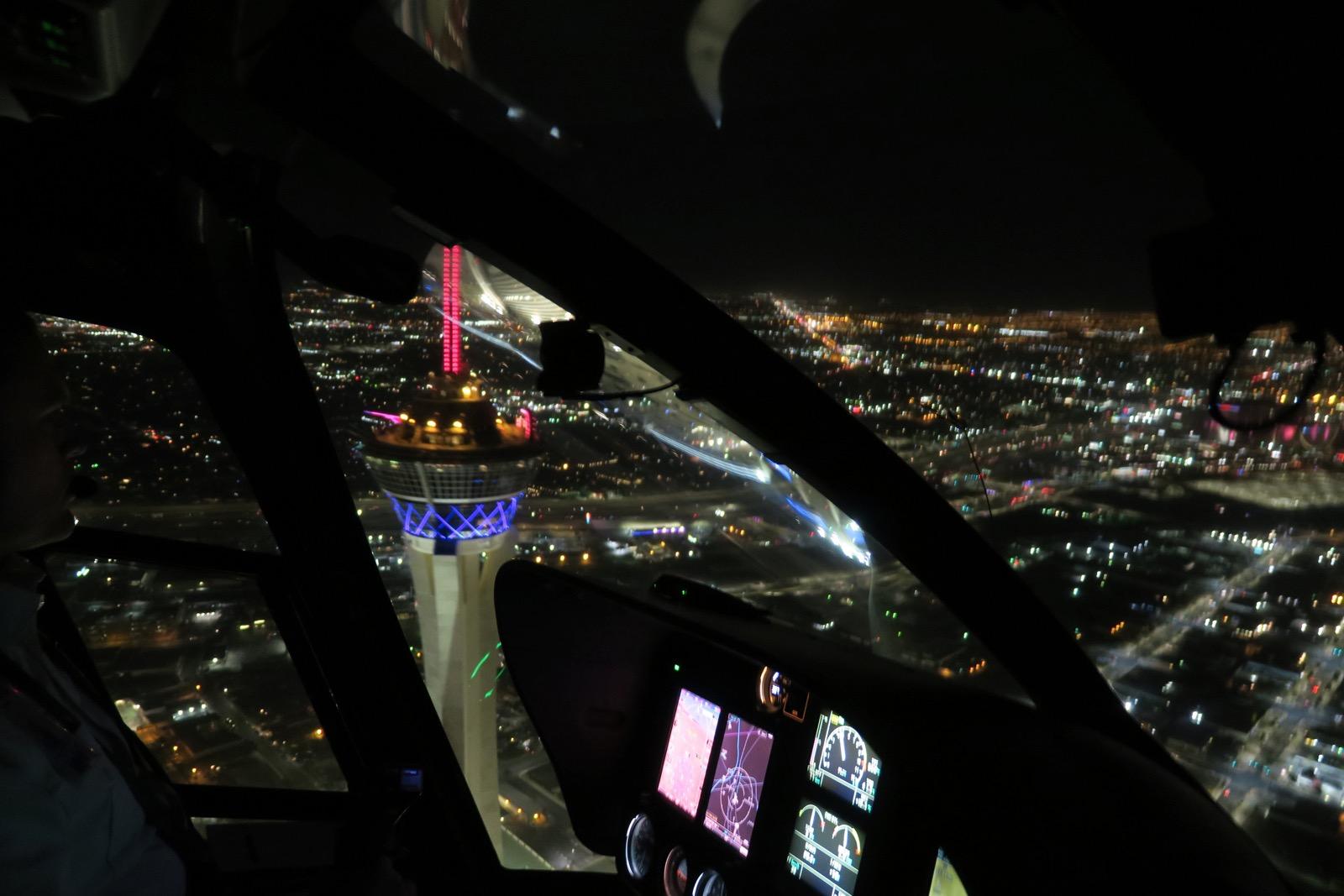 survol du Strip en hélicoptère