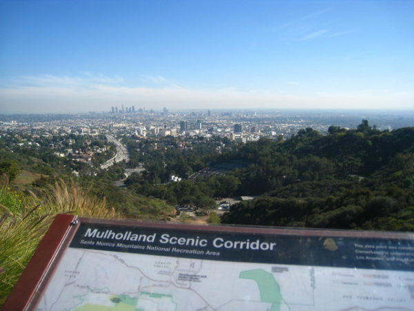 photo de la vue panoramique depuis Mulholland Drive