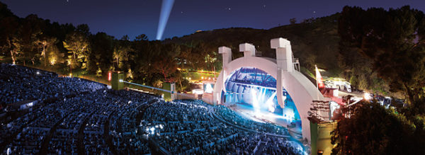 photo du Hollywood Bowl de nuit