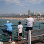 pécheur au Santa Monica Pier