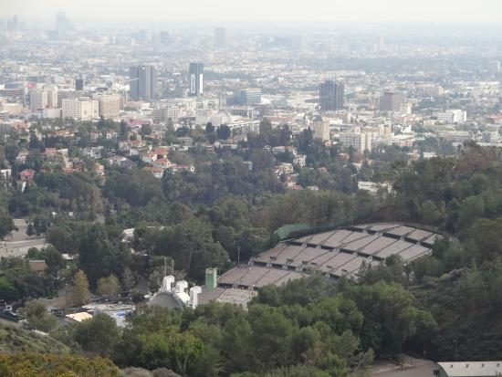 Hollywood Bowl depuis Mulholland Drive