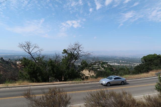 vue panoramique depuis Mulholland Drive
