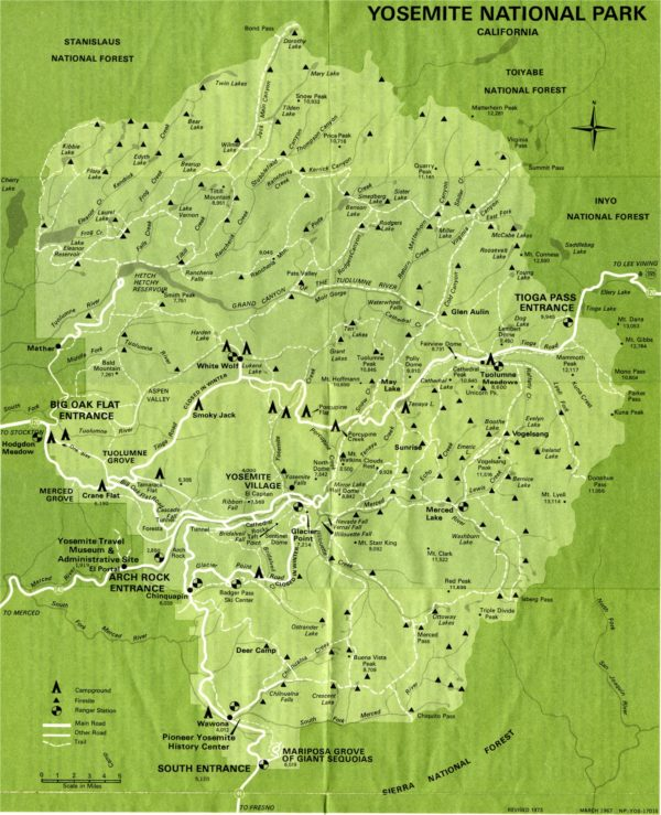 yosemite national park carte